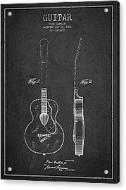 Gretsch Guitar Patent Drawing From 1941 - Dark Acrylic Print