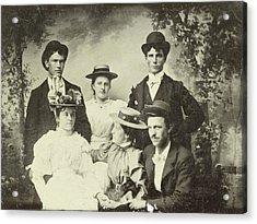 Group Portrait Of Three Men And Three Women Acrylic Print