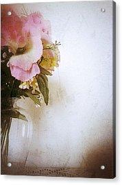 Grunge Flowers 4 Acrylic Print