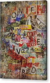 Grunge Textured Background Acrylic Print by Jelena Jovanovic