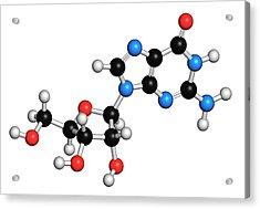 Guanosine Purine Nucleoside Molecule Acrylic Print by Molekuul