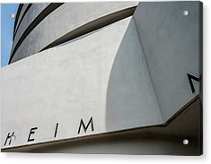 Guggenheim Museum Acrylic Print by James Howe