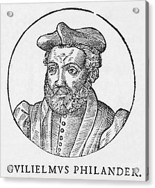 Guillaume Philandrier, French Humanist Acrylic Print by Middle Temple Library