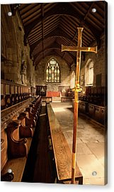 Guisborough, England  Interior Of Chapel Acrylic Print by John Short