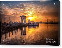 Acrylic Print featuring the photograph Gulfport Harbor by Maddalena McDonald