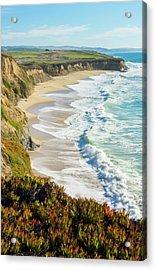 Half Moon Bay, California, Cliffs Acrylic Print
