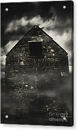 Halloween House Of Horrors. Scary Stone Building Acrylic Print by Jorgo Photography - Wall Art Gallery