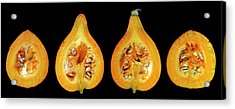 Halved Pumpkins Acrylic Print
