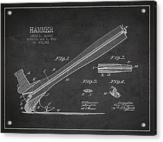 Hammer Patent Drawing From 1901 Acrylic Print