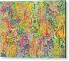 Hands Of Fatima, 1999 Acrylic On Paper Acrylic Print