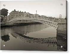 Ha'penny Bridge Dublin Ireland Acrylic Print by Betsy Knapp