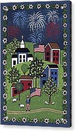Happy 4th Of July Acrylic Print by Medana Gabbard