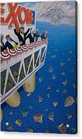 Happy Motoring Acrylic Print by Johnny Everyman