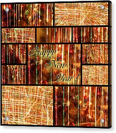 Happy New Year Collage  Acrylic Print by Julia Fine Art And Photography