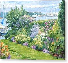 Harbor Garden Acrylic Print by Sharon Jordan Bahosh