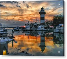 Harbour Town Sunset Acrylic Print