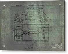 Harleigh Holmes Automobile Patent From 1932 Acrylic Print by Doc Braham