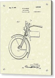 Harley Absorber 1925 Patent Art Acrylic Print by Prior Art Design