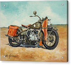 Harley Davidson Wla 1942 Acrylic Print