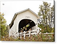 Harris Covered Bridge Acrylic Print by Scott Pellegrin