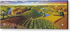 Harvest Panorama  Acrylic Print by Robin Moline