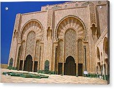 Hassan II Mosque Grand Mosque Sour Jdid Casablanca Morocco Acrylic Print by Ralph A  Ledergerber-Photography