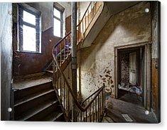 Haunted Staircase Urban Exploration Acrylic Print by Dirk Ercken
