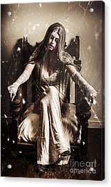 Haunting Horror Scene With A Strange Vampire Girl  Acrylic Print by Jorgo Photography - Wall Art Gallery