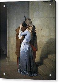 Hayez, Francesco 1791-1882. The Kiss Acrylic Print by Everett