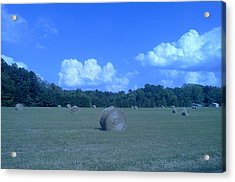Haystacks Acrylic Print by Stacy C Bottoms