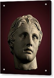 Head Of Alexander The Great Acrylic Print