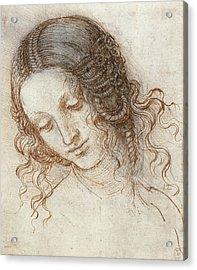Head Of Leda Acrylic Print by Leonardo Da Vinci