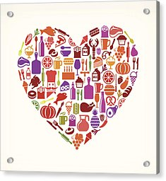Heart Food & Drink Royalty Free Vector Acrylic Print by Bubaone