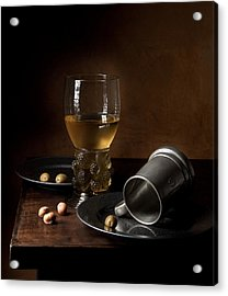 Acrylic Print featuring the photograph Heda - Still Life With Large Roemer And Goblet by Levin Rodriguez