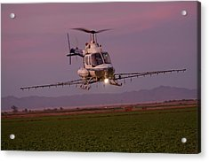 Helicopter Spraying Pesticides Acrylic Print