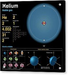 Helium Acrylic Print by Carlos Clarivan