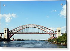 Acrylic Print featuring the photograph Hell Gate Bridge by Jim Poulos