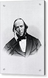 Herbert Spencer Acrylic Print by National Library Of Medicine
