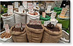Herbs For Sale At A Market Stall Acrylic Print