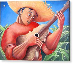 Acrylic Print featuring the painting Hidalgo Campesino by Oscar Ortiz
