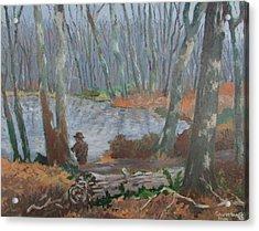 Acrylic Print featuring the painting Hidden Treasure by Tony Caviston