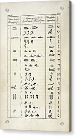 Hieroglyphics Research Acrylic Print