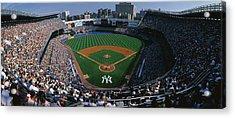 High Angle View Of A Baseball Stadium Acrylic Print