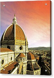 High Angle View Of A Cathedral, Duomo Acrylic Print