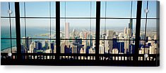 High Angle View Of A City As Seen Acrylic Print by Panoramic Images
