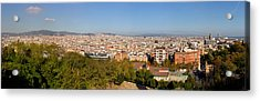 High Angle View Of A City, Barcelona Acrylic Print by Panoramic Images