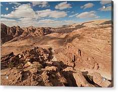 High Angle View Of Petra Valley Acrylic Print
