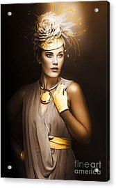 High Fashion Model Acrylic Print