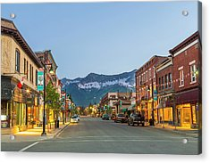 Historic 2nd Street In Downtown Fernie Acrylic Print by Chuck Haney