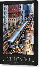 Historic Chicago El Train Poster Acrylic Print